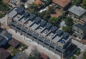 residential roof aerial view