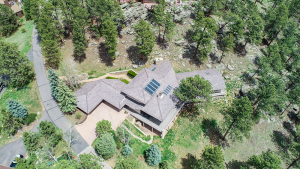 Aerial View of House Around Trees
