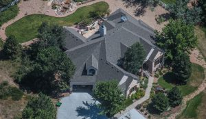 Residential House Roof Aerial View